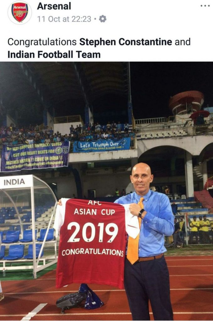 Arsenal-congratulating-indian-football-team-stephen-constantine