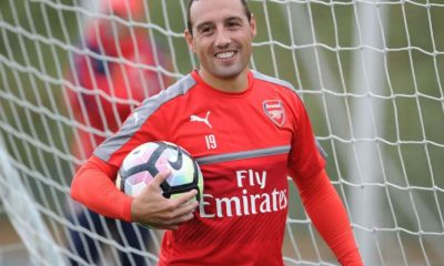 Arsenal-Training-Session-Santi-Cazorla