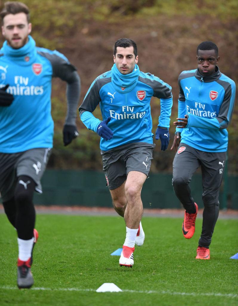 henrick-Mkhitaryan-Arsenal-training