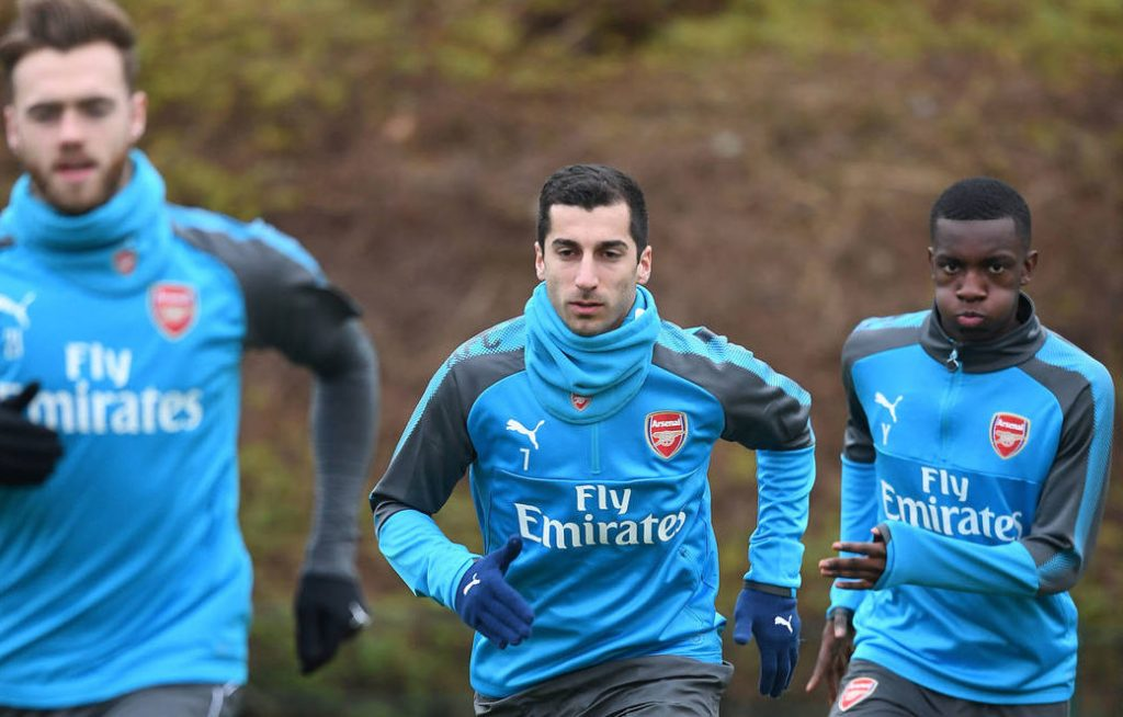 henrikh-Mkhitaryan-Arsenal-training