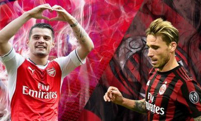 Arsenal-AC-Milan-Xhaka-vs-Baglia