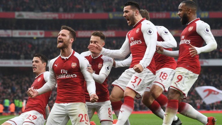 Arsenal-celebrates-in-their-win-against-Tottenham-Hotspur